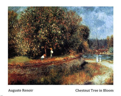 Framed Chestnut Tree in Bloom Print