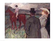 At the Racecourse, 1899  Fine Art Print