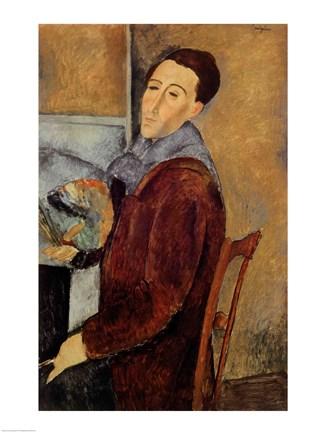 Self Portrait 1919 Fine Art Print By Amedeo Modigliani At