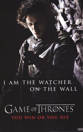 Framed Game of Thrones - Watcher Print