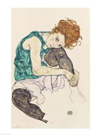 Seated Woman with Bent Knee, 1917  Fine Art Print