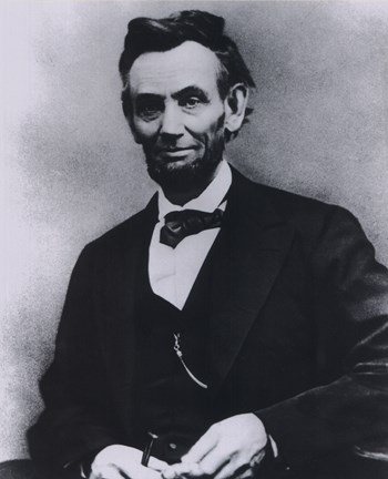 Framed Abraham Lincoln Portrait 1865 Print
