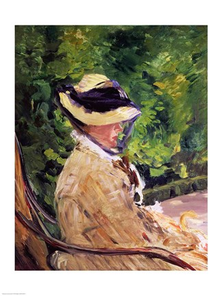 Framed Madame Manet at Bellevue Print