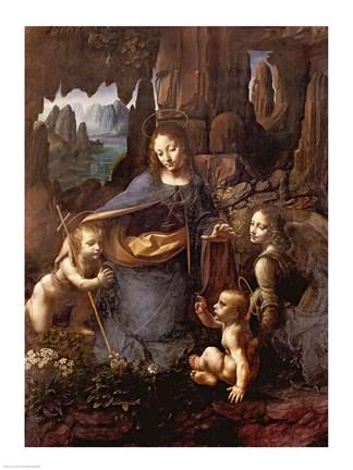 The Virgin of the Rocks Fine Art Print by Leonardo Da