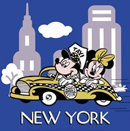 Mickey and Minnie in New York  Fine Art Print