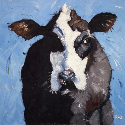Framed Cow #302 Print