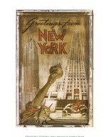 Greetings from New York  Fine Art Print
