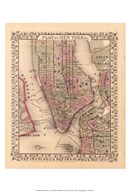 Plan of New York City, 1867 Art