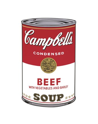 Framed Campbell's Soup I:  Beef, 1968 Print