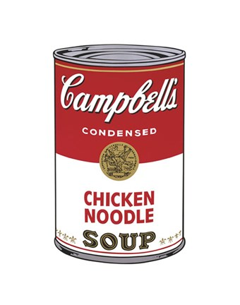 Framed Campbell's Soup I:  Chicken Noodle, 1968 Print