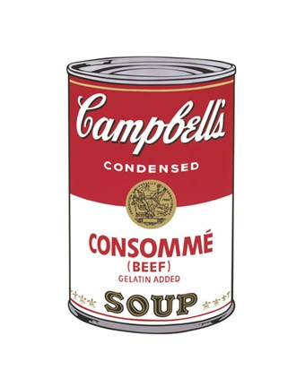 Framed Campbell's Soup I:  Consomme, 1968 Print