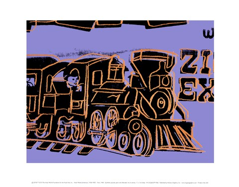 Framed Train, 1983 Print