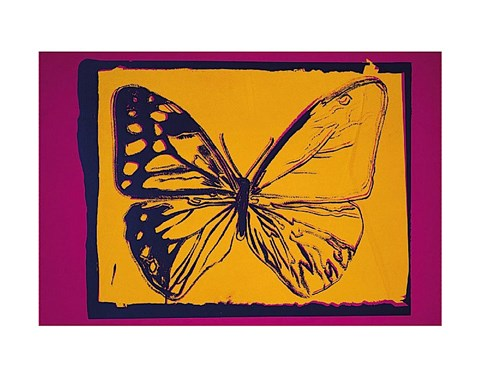 Framed Vanishing Animals [Butterfly],  1986 Print