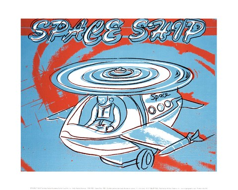 Framed Space Ship, 1983 Print