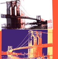Brooklyn Bridge, 1983 (black bridge/white background) Art