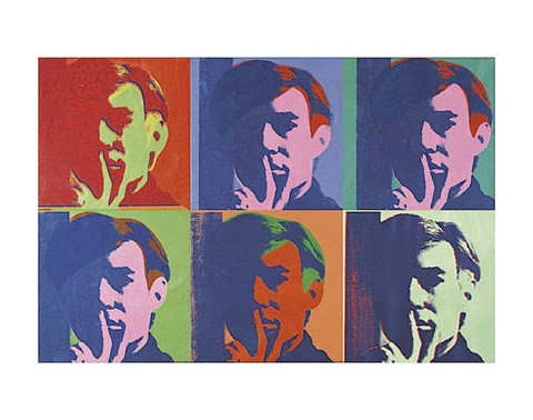 Framed Set of Six Self-Portraits, 1967 Print