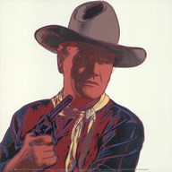 Cowboys & Indians: John Wayne 201/250, 1986 Art