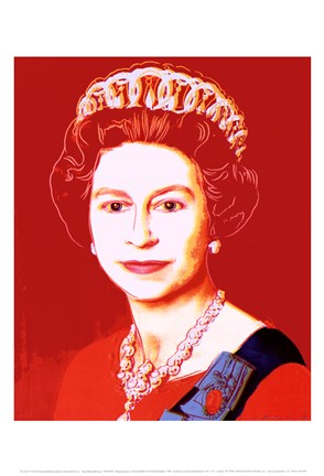 Framed Reigning Queens: Queen Elizabeth II of the United Kingdom, 1985 (light outline) Print