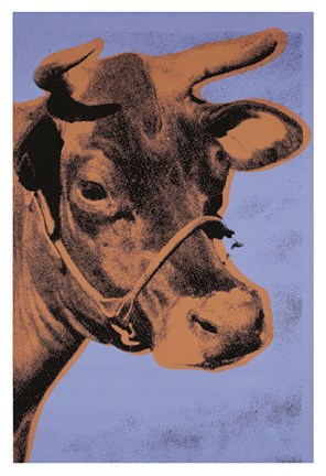 Framed Cow, 1971 (purple & orange) Print