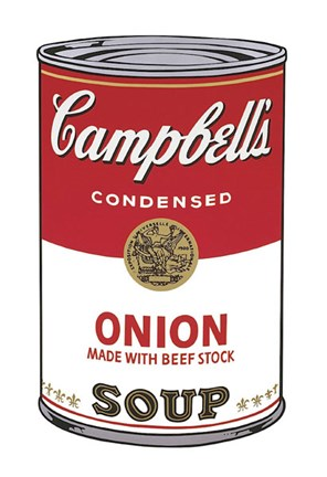 Framed Campbell's Soup I:  Onion, 1968 Print