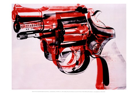 Framed Gun, c. 1981-82 (black and red on white) Print