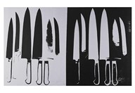 Knives, c. 1981-82 (silver and black) Art