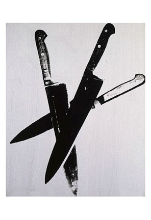 Framed Knives, c.1981-82 (three black) Print