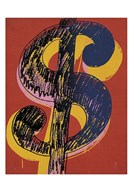 Dollar Sign, 1981 (black and yellow on red)