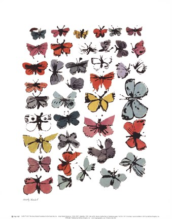Framed Butterflies, 1955  (many/varied colors) Print