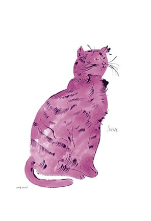 Framed Cat From 25 Cats Named Sam and One Blue Pussy, c.1954 (Pink Sam) Print