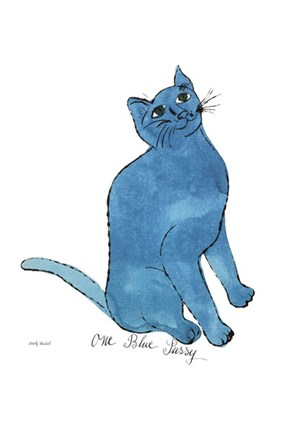 Framed Cat From 25 Cats Named Sam and One Blue Pussy, c. 1954  (One Blue Pussy) Print