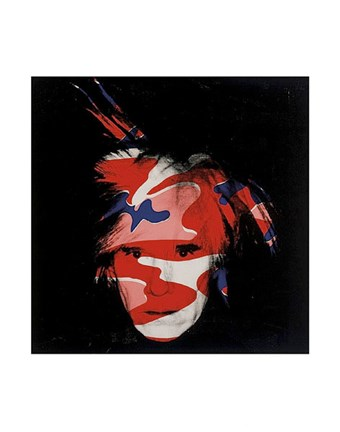 Framed Self-Portrait, 1986 (red, white and blue camo) Print