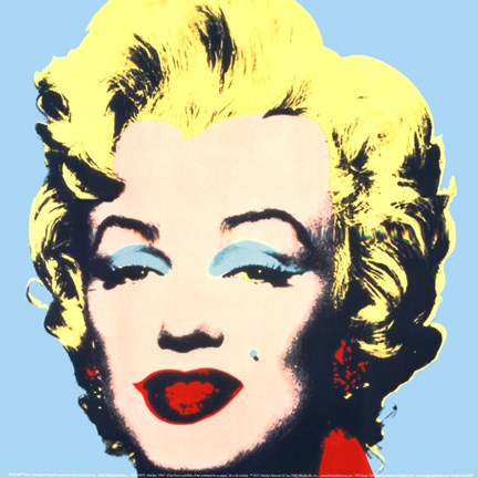 Framed Marilyn, 1967 (on blue ground) Print