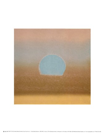Framed Sunset, 1972 40/40 (gold, blue) Print