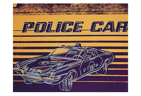 Framed Police Car, 1983 Print
