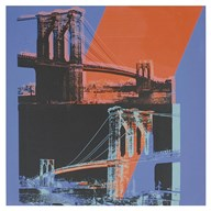 Brooklyn Bridge, 1983 (pink, red, blue) Art