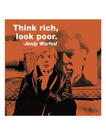 Framed Think rich, look poor (color square) Print