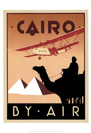 Framed Cairo by Air Print