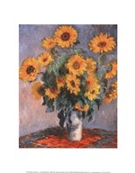 Vase of Sunflowers Art