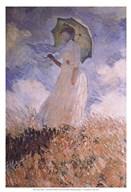 Woman with Parasol  Fine Art Print
