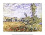Landscape at Vetheuil  Fine Art Print