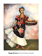Portrait of Dolores Olmedo  Fine Art Print