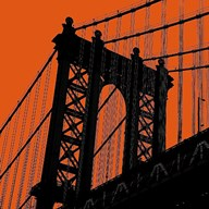 Orange Manhattan Art