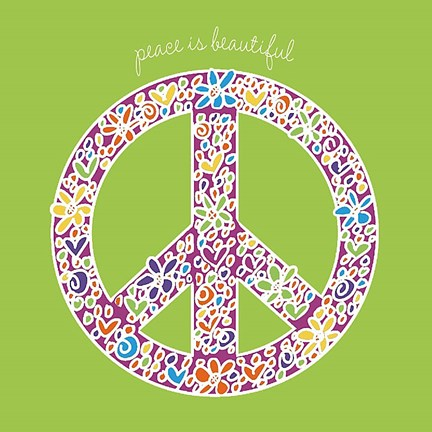 Framed Peace is Beautiful Print