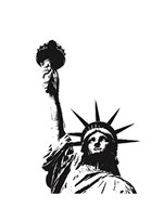 Statue of Liberty (outline)  Fine Art Print