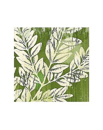 Framed Meadow Leaves Print