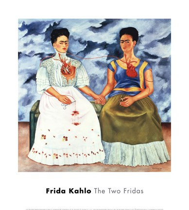 The Two Fridas 1939 Fine Art Print By Frida Kahlo At
