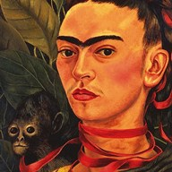 Self Portrait with a Monkey, 1940 (detail)