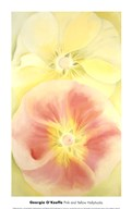Pink and Yellow Hollyhocks, 1952  Fine Art Print