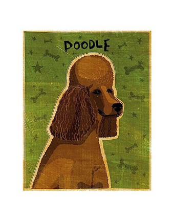 Framed Poodle (brown) Print